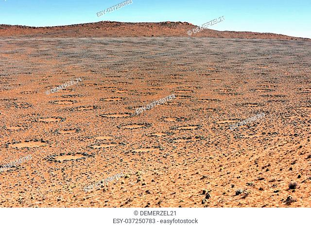 Fairy circles, located in the Namib Desert, in the Namib-Naukluft National Park of Namibia