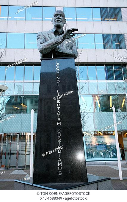 Statue of Pim Fortuyn, the dutch politician who has been murdered