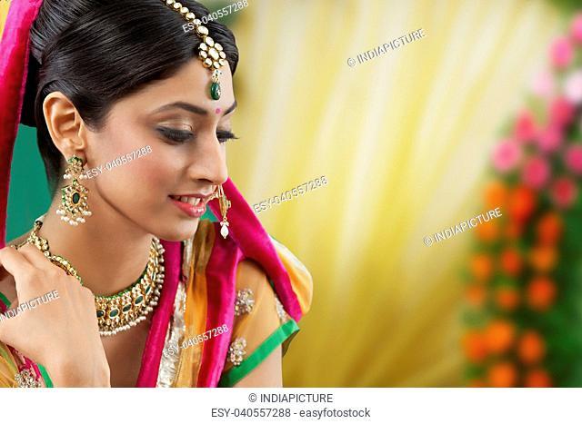 Close-up of a beautiful bride