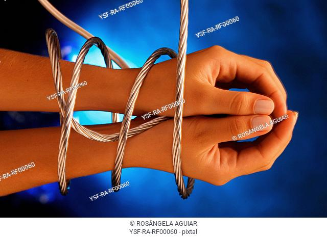 Hands tied, female, Belém, Pará, Brazil