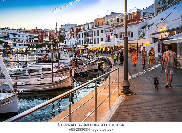 Cales Fonts. Es Castell. Villacarlos Municipality. Minorca. Balearic Islands. Spain