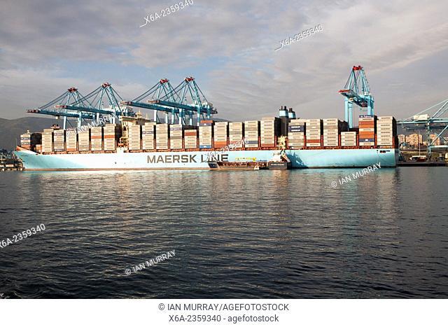 APM Terminals container ship port at Algeciras, Cadiz Province, Spain
