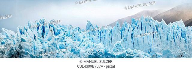 Panoramic view of Perito Moreno Glacier, Los Glaciares National Park, Patagonia, Chile
