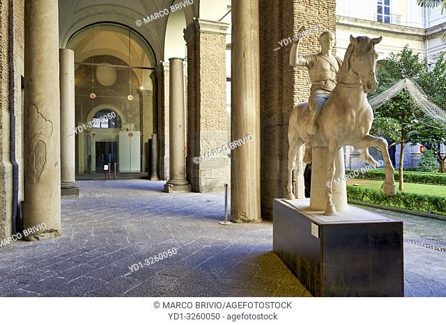Naples Campania Italy. The National Archaeological Museum of Naples (Museo Archeologico Nazionale di Napoli) is an important Italian archaeological museum