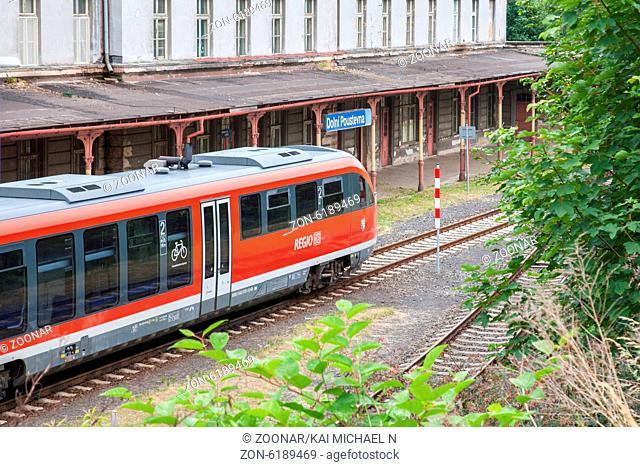 Ab dem 5. Juli 2014 werden die Zuege der neuen Linie U28 auch innerhalb Deutschlands von tschechischem Personal gefahren