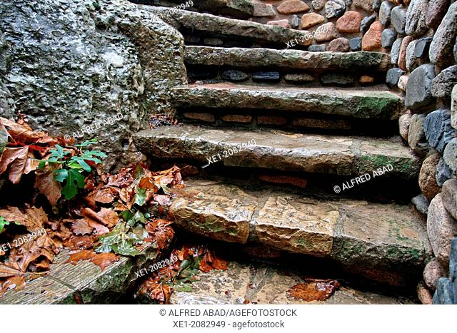 Stone steps, L'Espluga de Francolí, Catalonia, Spain