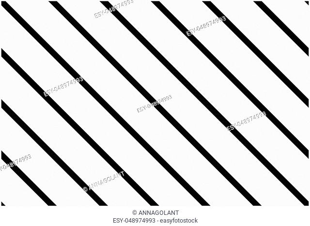 Seamless pattern. Black Stripes on white background. Striped diagonal pattern For printing on fabric, paper, wrapping, scrapbooking, websites