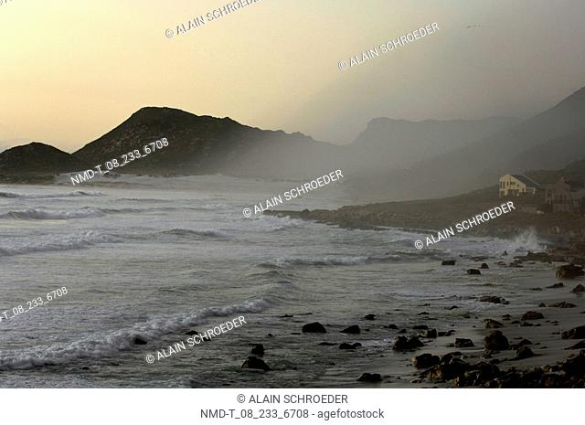 Waves in the sea, Misty Cliffs, Cape Town, Western Cape Province, South Africa