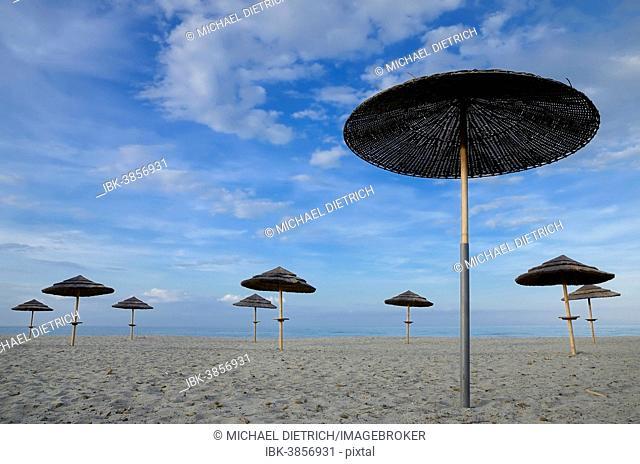 Parasol beach corsica Stock Photos and Images  2e80e3f61b7