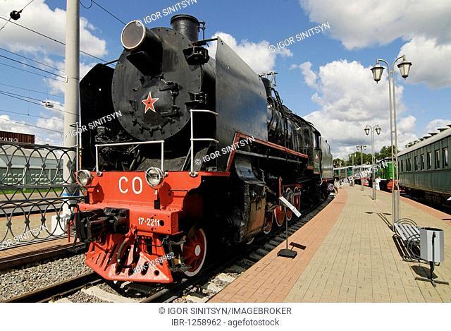 Soviet steam locomotive SO17-2211 of the Sergo Ordzhonikidze series, built in 1934