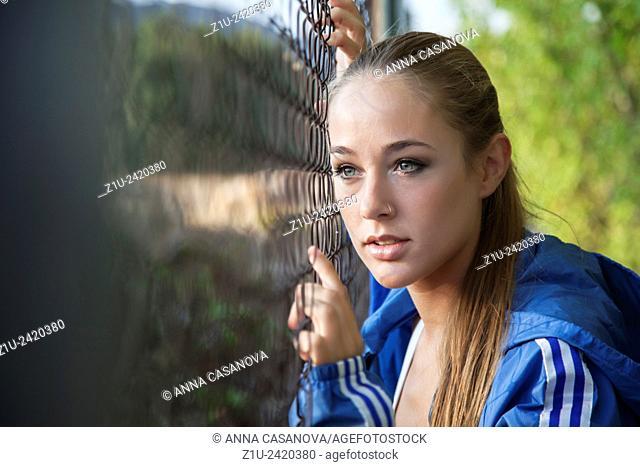 Proud woman runner