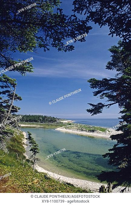 Chicotte-River-cove, Anticosti, Québec, Canada