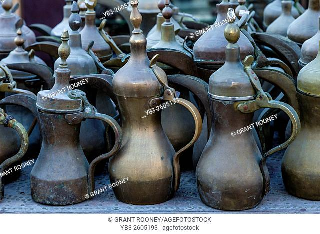Coffee Pots For Sale At The Souk Waqif, Doha, Qatar