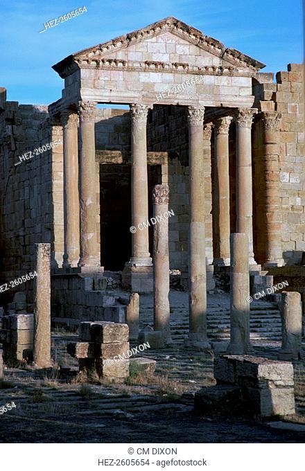 Capitoline temple in the Roman forum of Sufetula, c.1st century