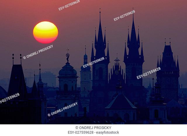 Czech Republic, Prague church towers