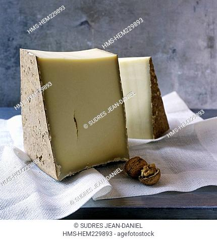 France, Savoie, AOC Beaufort, one of cheeses used for making the fondue savoyarde design by Valerie Lhomme