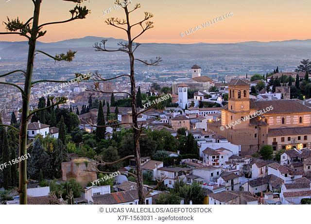 View of Albaicín quarter,Granada Andalusia, Spain