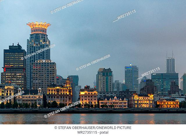China, Shanghai, The Bund and the Shanghai Westin Hotel