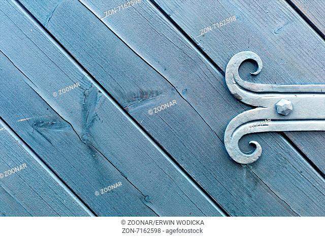 decorated fitting of wooden door