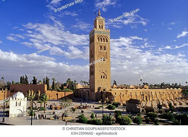 Koutoubia Mosque of Marrakech, Marrakech, Morocco, North Africa
