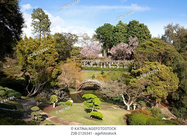 Springtime in the Japanese Gardens at Huntington Gardens and Library, San Marino, California, USA