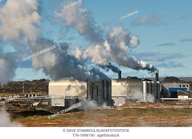 Iceland, Reykjanes Power Station, geothermal power plant