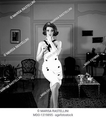 Sylvia Koscina posing. Croatian-born Italian actress Sylvia Koscina (Sylva Koskinon) posing for a phtoshooting. 1960s