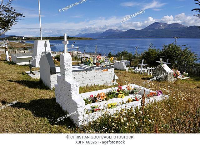 cemetery of Puerto Williams, Navarino Island, Tierra del Fuego, Antarctic, Chile, South America