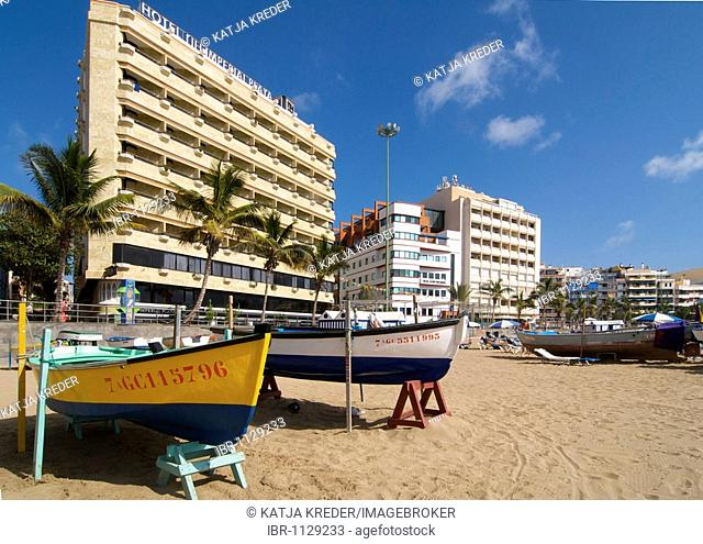 Las Canteras beach in Las Palmas, Grand Canary, Canary Islands, Spain
