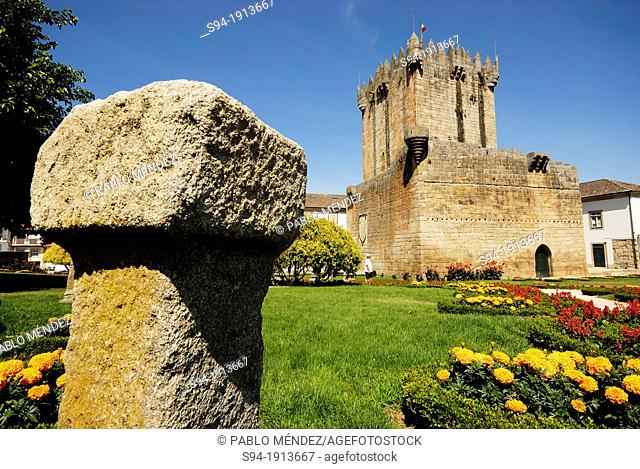 Tower of the castle in Chaves, Vila Real, Portugal