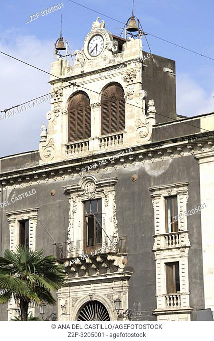 Monumental architecture in Catania on October 15, 2018 Sicily Italy