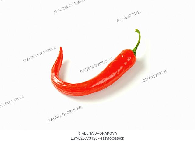 red hot chili pepper on white background