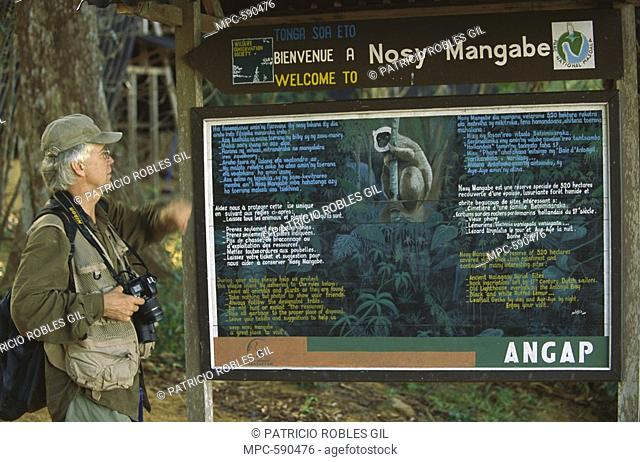 Russell Mittermeier president of Conservation International in Nosy Mangabe Reserve, Madagascar
