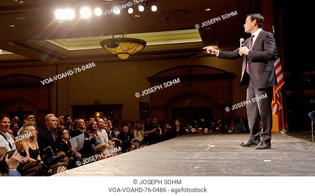 Marco Rubio Holds Campaign Rally at Texas Station, Dallas Ballroom, North Las Vegas, NV
