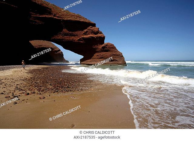 Beach between Mirleft and Sidi Ifni, Southern Morocco; Morocco
