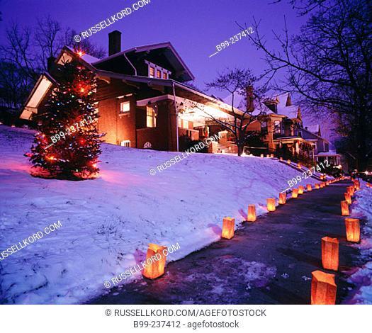 Luminaries. Annual Christmas Festival. Brookville. Pennsylvania. USA