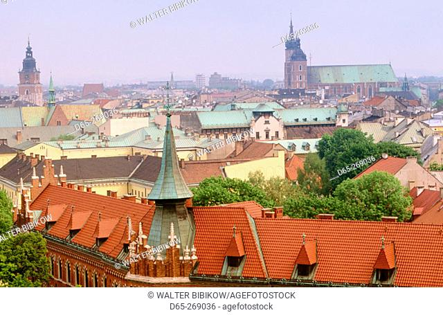 View of Krakow from Wavel Cathedral. Poland
