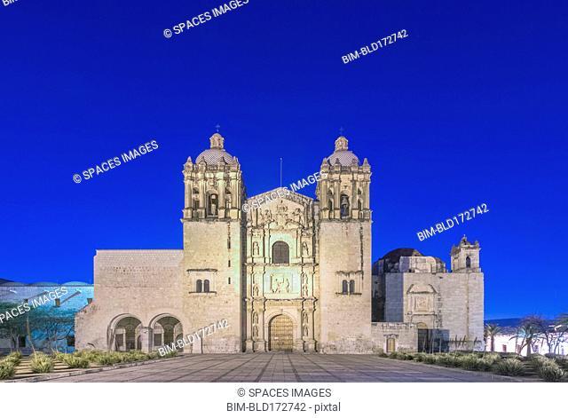 Santo Domingo church under blue sky, Oaxaca, Oaxaca, Mexico