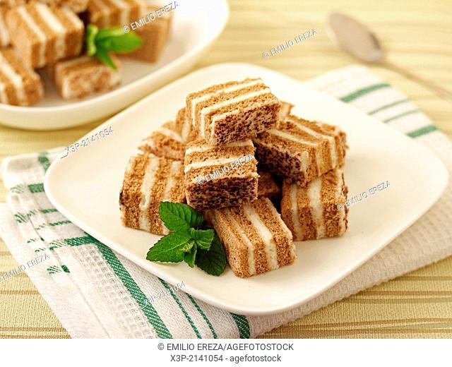 Sponge cake with coffee and mascarpone