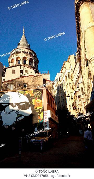 Galata tower. Beyoglu. Istanbul. Turkey