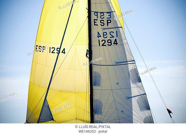 Sailing, sail detail