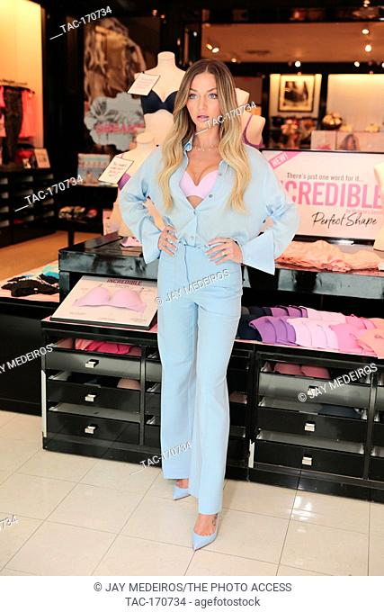 Erika Costell joins Victoria's Secret Angel Alexina Graham to celebrate the newest bra collection Incredible by Victoria's Secret on April 18