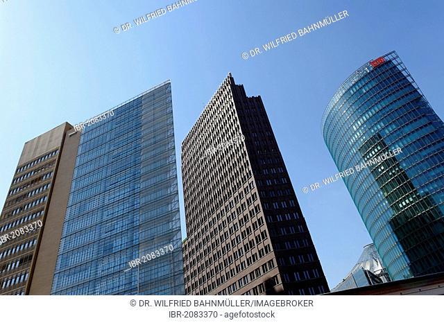 Skyskrapers in Potsdamer Platz, Berlin, Germany, Europe