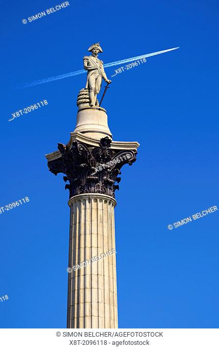 Nelsons Column, Trafalgar Square, London, England, United Kingdom