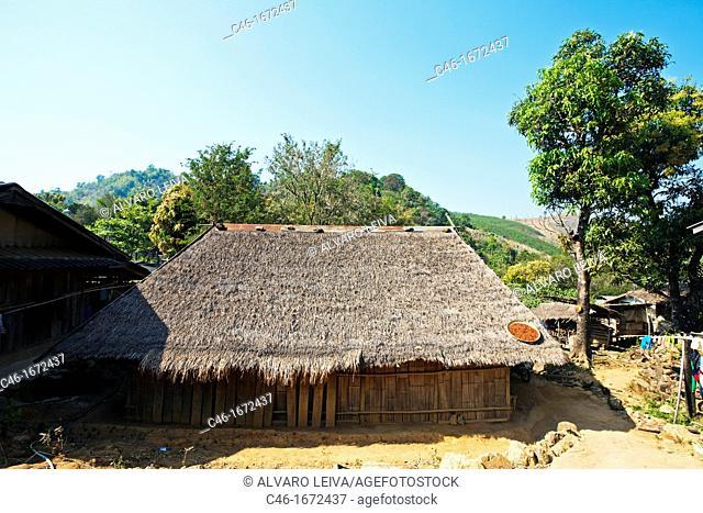 Hmong hill tribe 'also called Meo', Kiw Kran village near Chiang Khong, Chiang Rai Province, Thailand