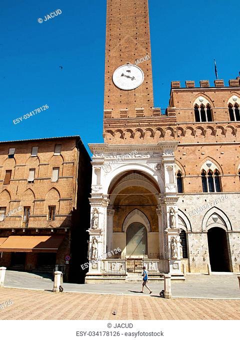 Chapel Square near Town hall ,Siena