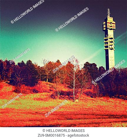 Kaknastornet tower, the operations centre for Swedish radio and TV broadcasting, Stockholm, Sweden, Scandinavia
