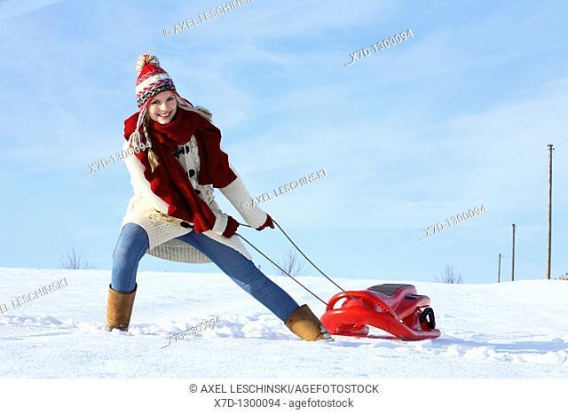woman in winterly landscape