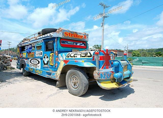 Jeepney bus, island Bohol, Philippines, Southeast Asia