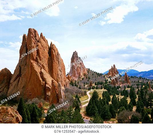Garden of the Gods Rock Formations near Colorado Springs, Colorado, USA